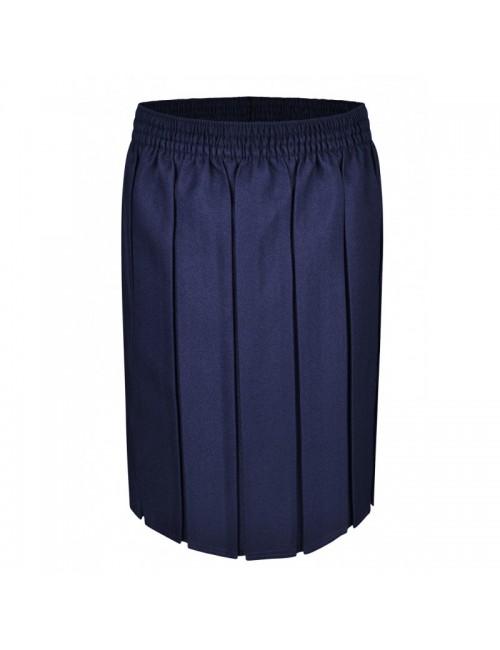 Navy Box Pleat Skirts