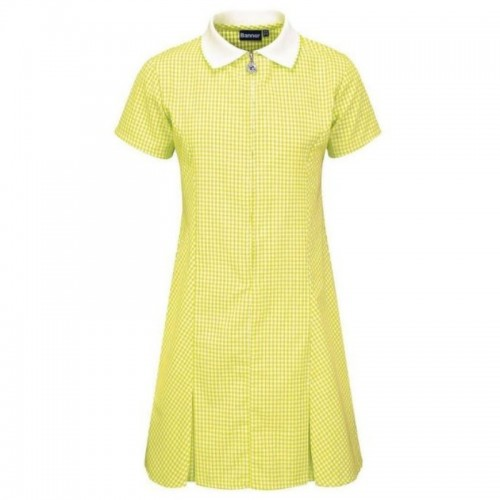 Summer Dress, Yellow Check