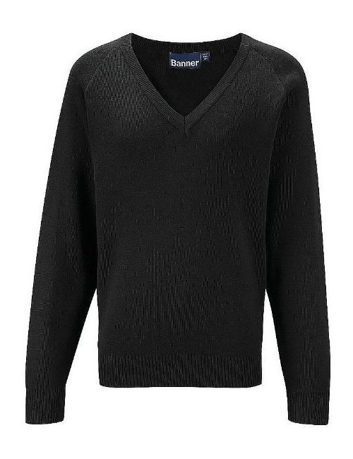 Black V Neck Jumper (BMB)