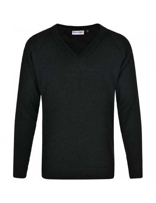 Black V Neck Jumper - 4...