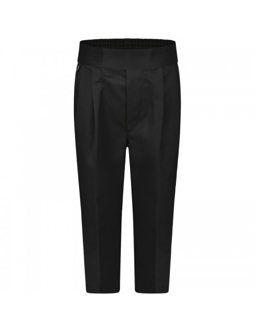 Boys Black Trousers - Pull Ups