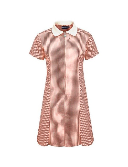 Summer Dress, Red Check