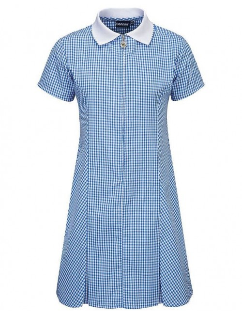 Summer Dress, Blue Check